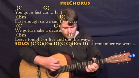 Fast Car (Tracy Chapman) Strum Guitar Cover Lesson with